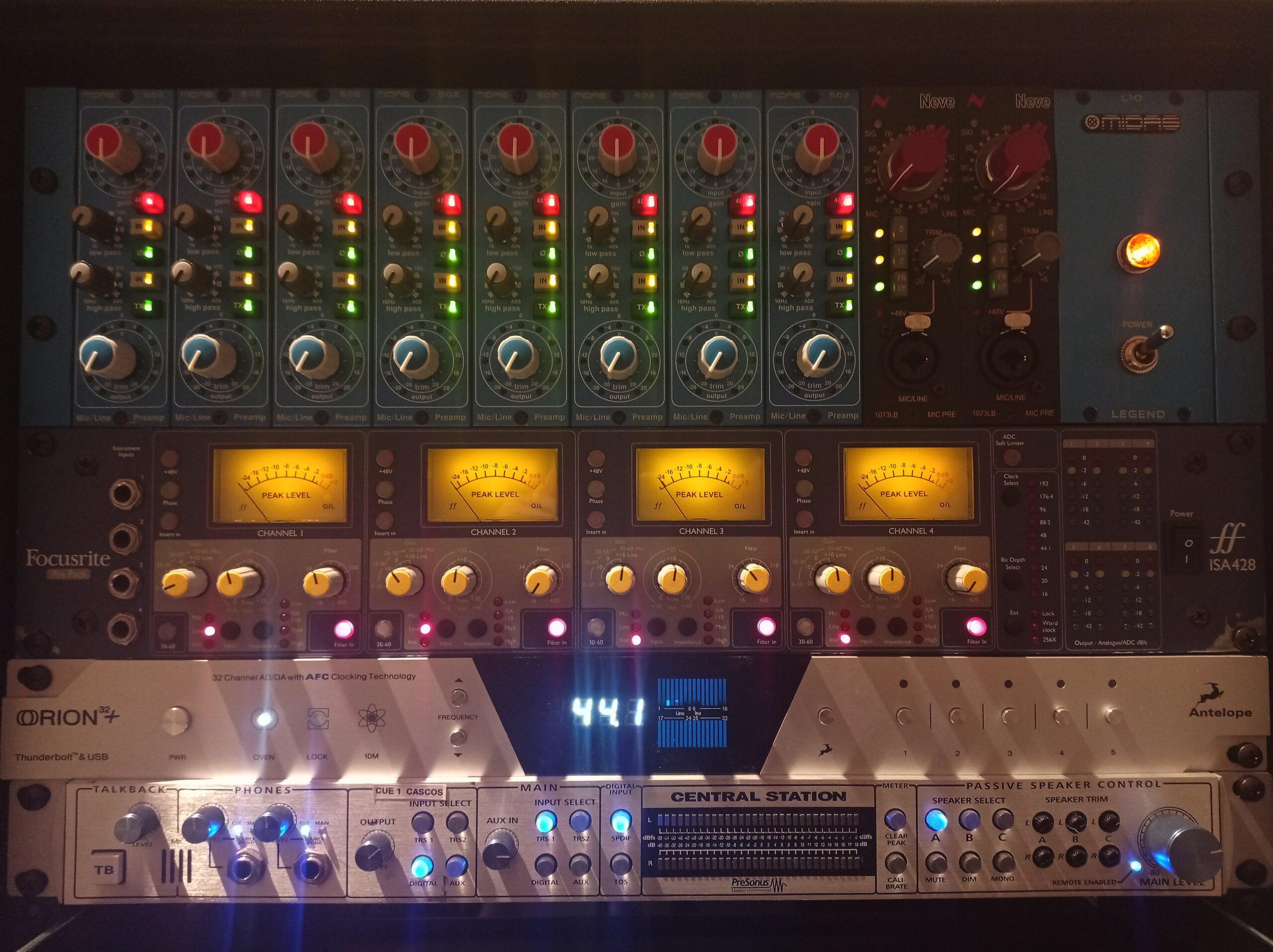 Grabación mezcla y mastering